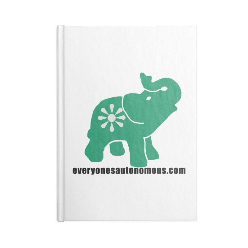 Green Elephant w/Website Accessories Notebook by Everyone's Autonomous' Artist Shop