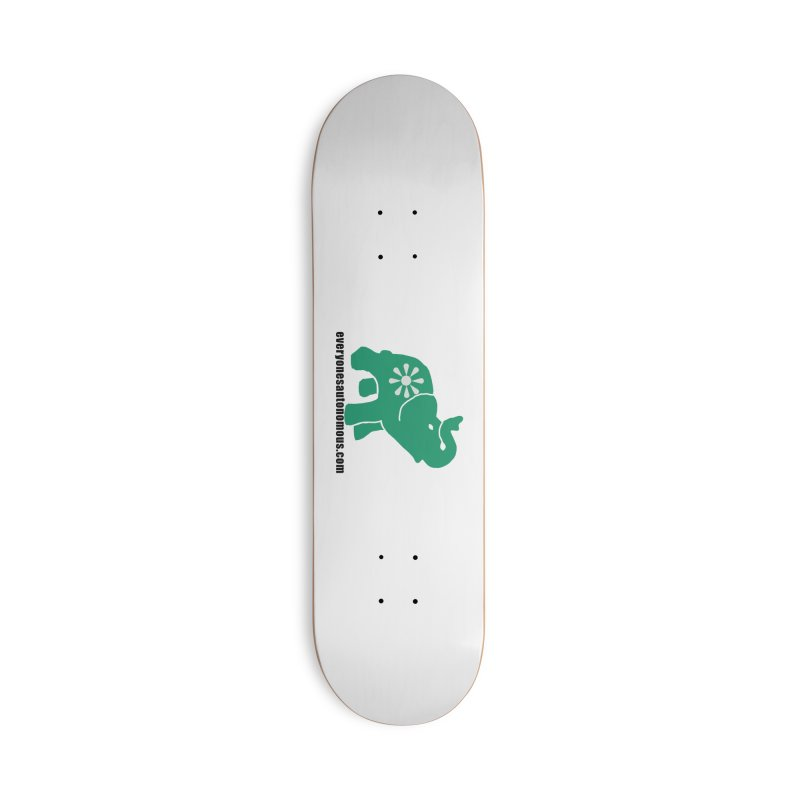 Green Elephant w/Website Accessories Skateboard by Everyone's Autonomous' Artist Shop