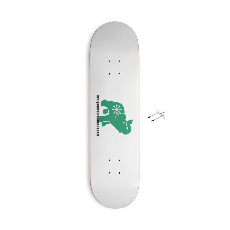 Green Elephant w/Website Accessories With Hanging Hardware Skateboard by everyonesautonomous's Artist Shop