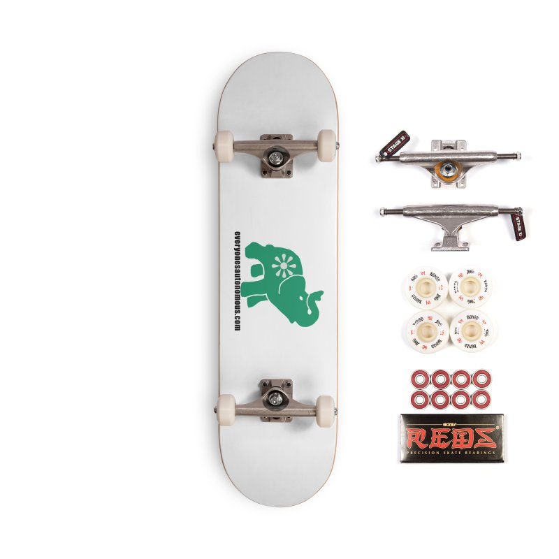 Green Elephant w/Website Accessories Complete - Pro Skateboard by everyonesautonomous's Artist Shop