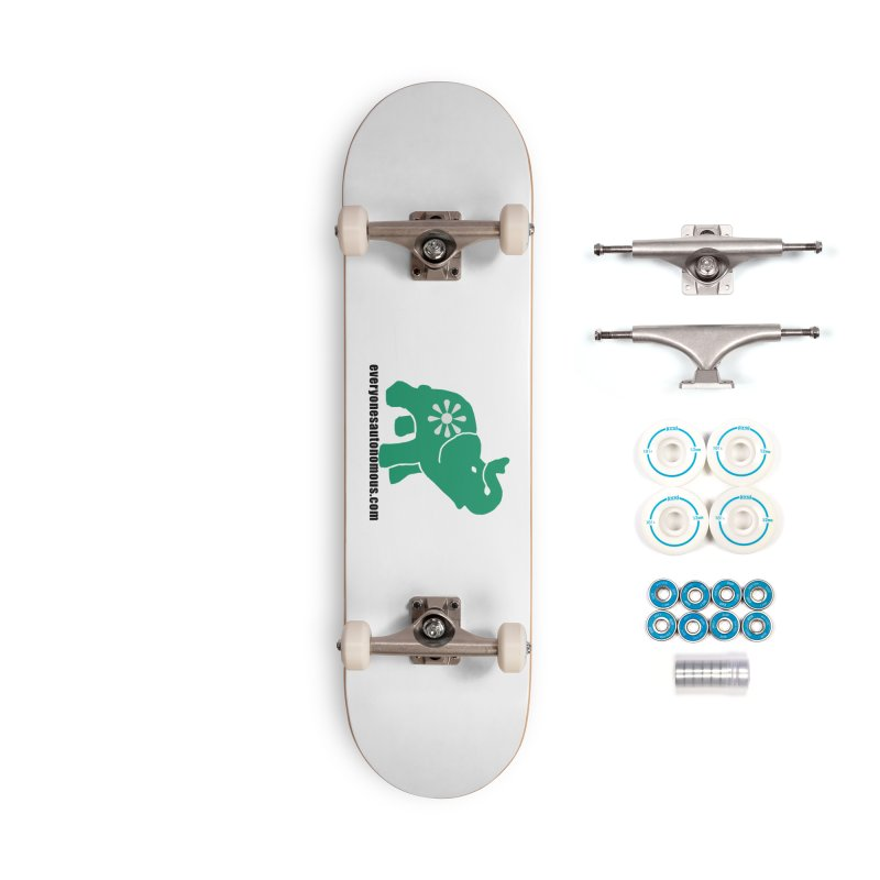 Green Elephant w/Website Accessories Complete - Basic Skateboard by everyonesautonomous's Artist Shop