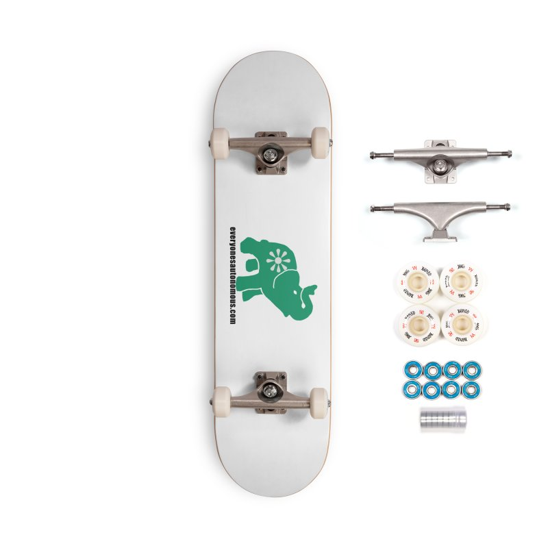 Green Elephant w/Website Accessories Complete - Premium Skateboard by everyonesautonomous's Artist Shop