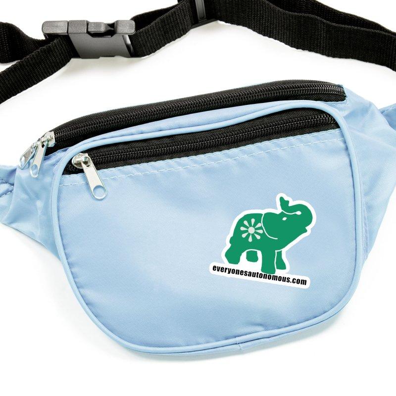 Green Elephant w/Website Accessories Sticker by Everyone's Autonomous' Artist Shop