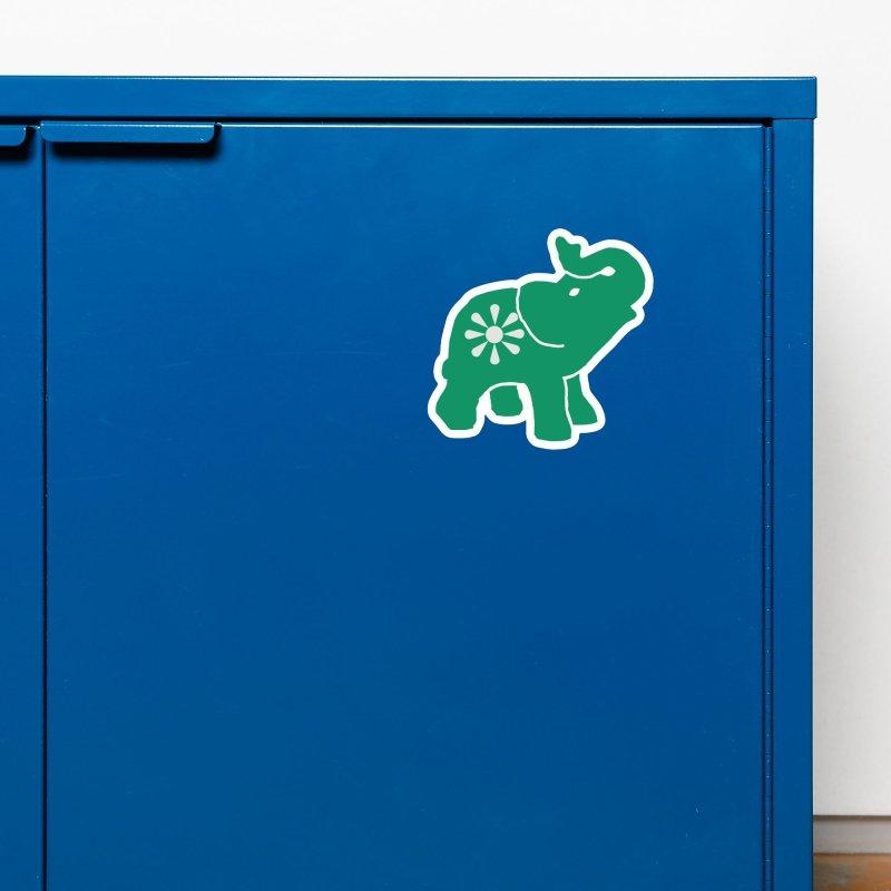 Green Elephant Accessories Magnet by Everyone's Autonomous' Artist Shop
