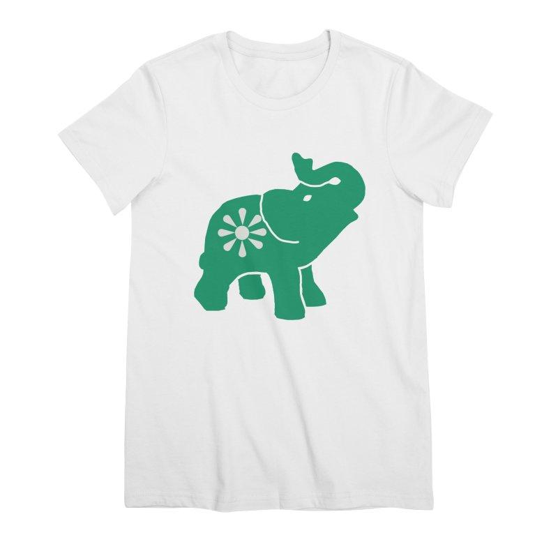 Green Elephant Women's Premium T-Shirt by everyonesautonomous's Artist Shop