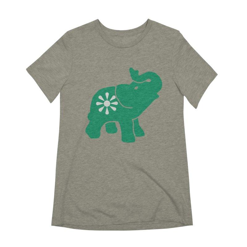 Green Elephant Women's Extra Soft T-Shirt by everyonesautonomous's Artist Shop