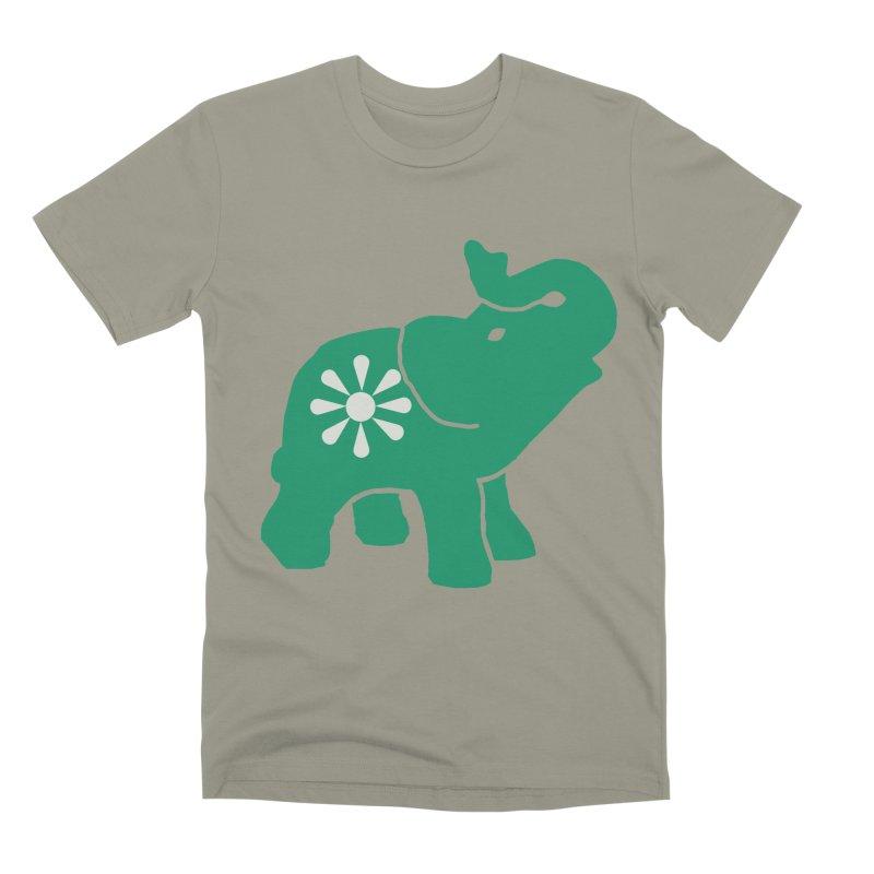 Green Elephant Men's Premium T-Shirt by everyonesautonomous's Artist Shop