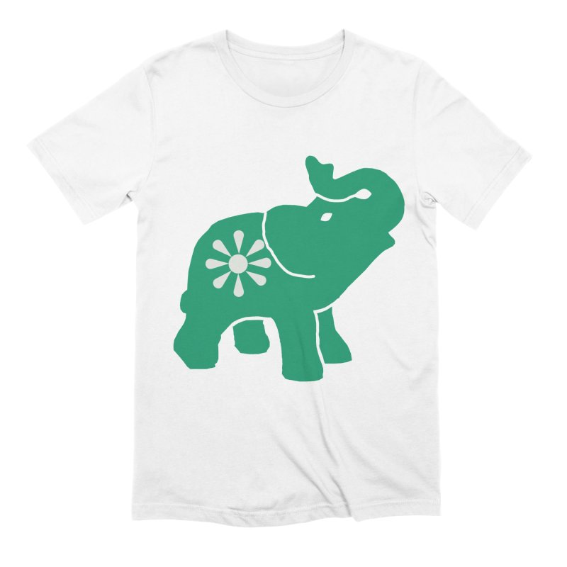 Green Elephant Men's Extra Soft T-Shirt by everyonesautonomous's Artist Shop