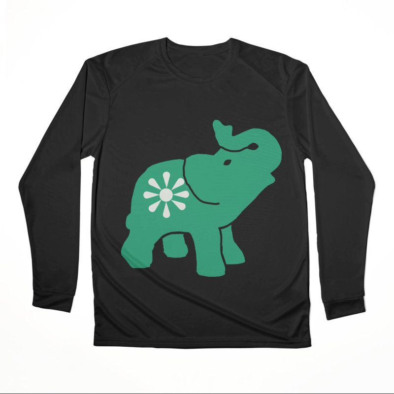 Green Elephant Women's Performance Unisex Longsleeve T-Shirt by everyonesautonomous's Artist Shop