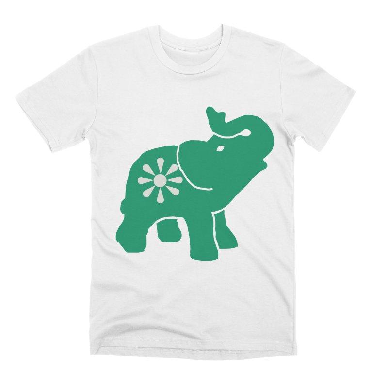 Green Elephant Men's T-Shirt by Everyone's Autonomous' Artist Shop