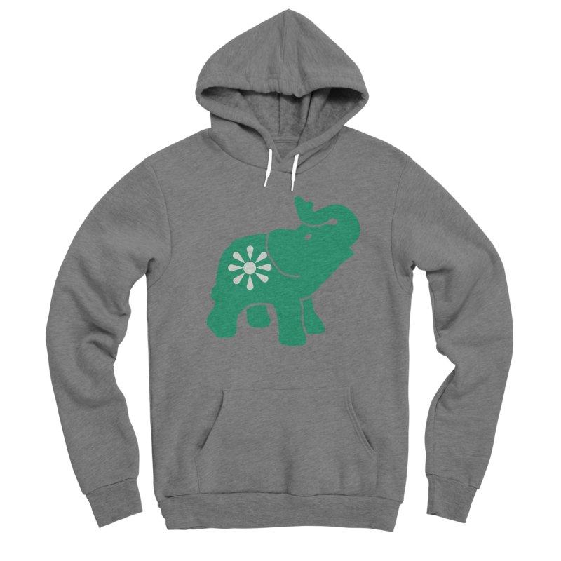 Green Elephant Women's Sponge Fleece Pullover Hoody by everyonesautonomous's Artist Shop