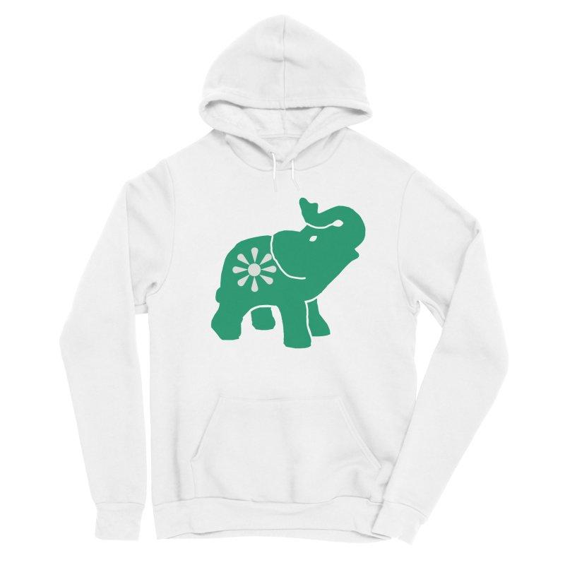 Green Elephant Men's Pullover Hoody by Everyone's Autonomous' Artist Shop