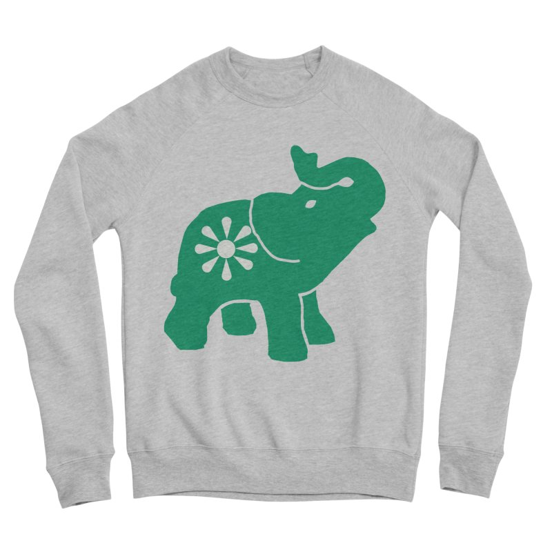 Green Elephant Women's Sponge Fleece Sweatshirt by everyonesautonomous's Artist Shop