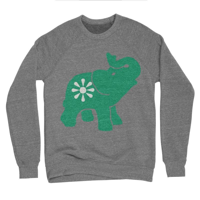 Green Elephant Men's Sweatshirt by Everyone's Autonomous' Artist Shop