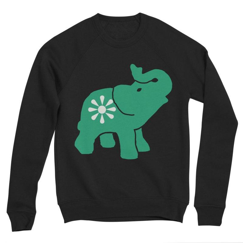 Green Elephant Men's Sponge Fleece Sweatshirt by everyonesautonomous's Artist Shop