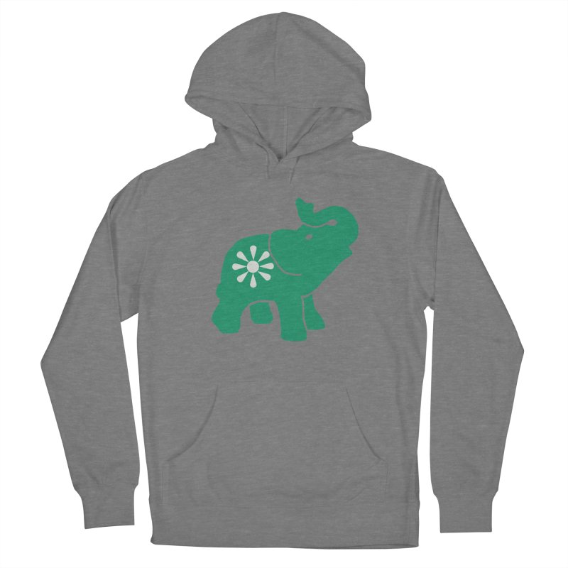 Green Elephant Men's French Terry Pullover Hoody by everyonesautonomous's Artist Shop