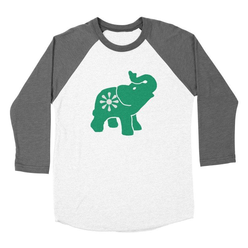 Green Elephant Men's Baseball Triblend Longsleeve T-Shirt by everyonesautonomous's Artist Shop