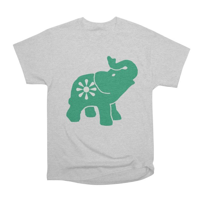 Green Elephant Women's Heavyweight Unisex T-Shirt by everyonesautonomous's Artist Shop