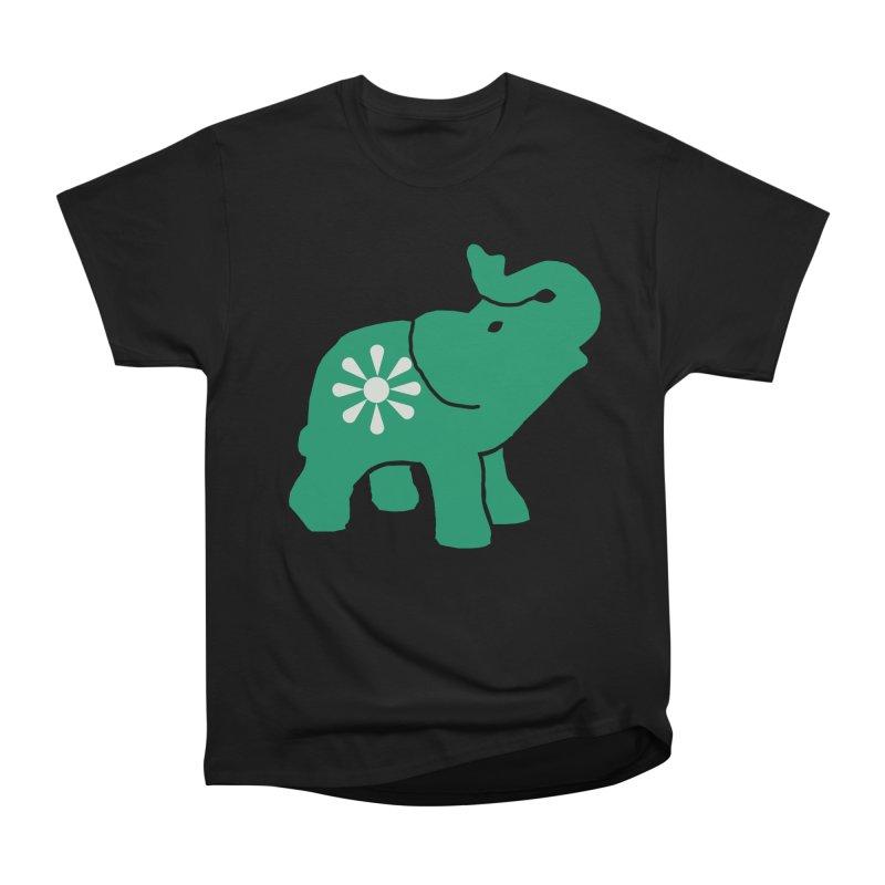 Green Elephant Men's Heavyweight T-Shirt by everyonesautonomous's Artist Shop