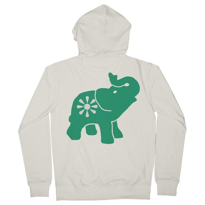 Green Elephant Women's Zip-Up Hoody by Everyone's Autonomous' Artist Shop