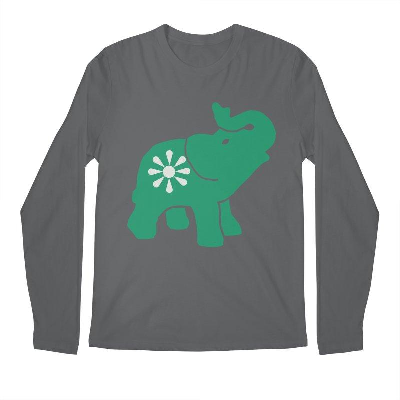 Green Elephant Men's Longsleeve T-Shirt by Everyone's Autonomous' Artist Shop