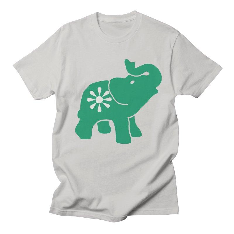 Green Elephant Men's Regular T-Shirt by everyonesautonomous's Artist Shop