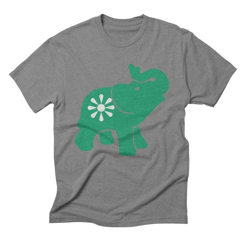 Green Elephant Men's Triblend T-Shirt by everyonesautonomous's Artist Shop