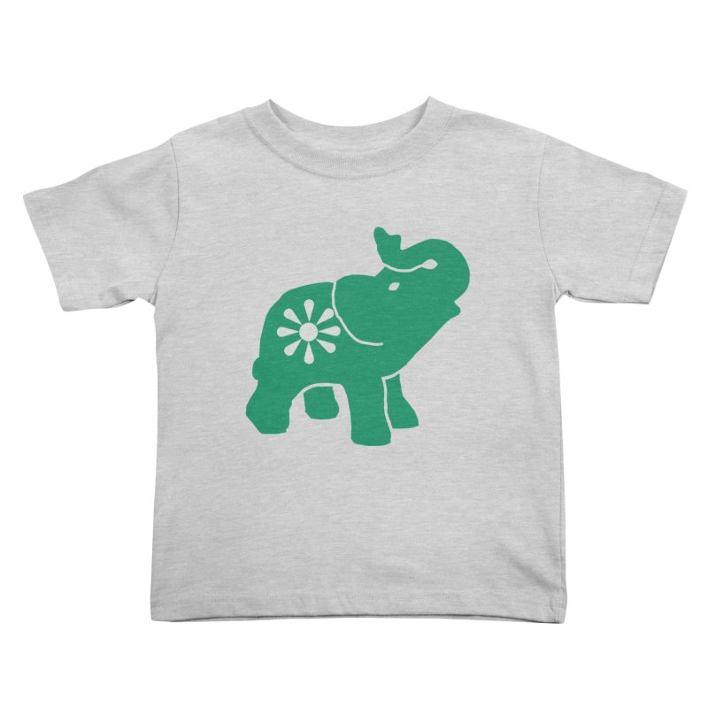 Green Elephant Kids Toddler T-Shirt by everyonesautonomous's Artist Shop