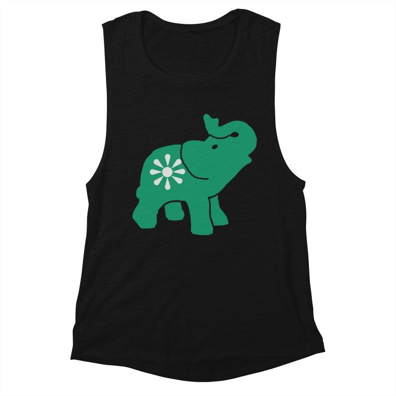 Green Elephant Women's Tank by Everyone's Autonomous' Artist Shop