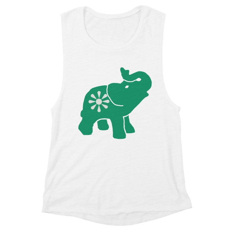 Green Elephant Women's Muscle Tank by everyonesautonomous's Artist Shop