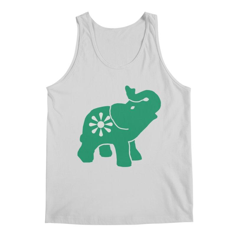 Green Elephant Men's Regular Tank by everyonesautonomous's Artist Shop