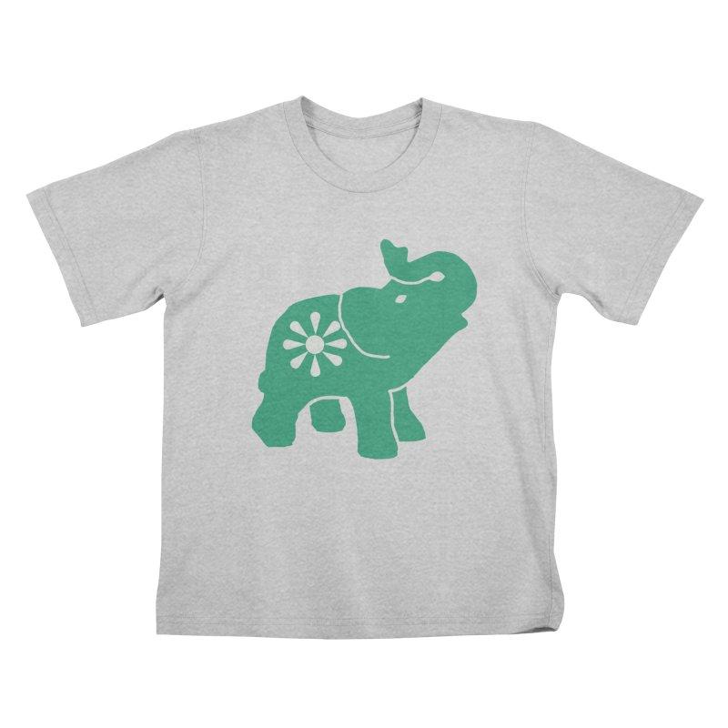 Green Elephant Kids T-Shirt by Everyone's Autonomous' Artist Shop