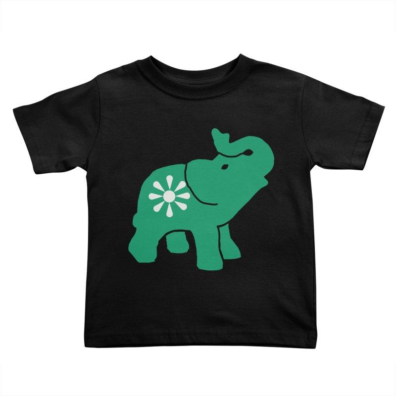 Green Elephant Kids Toddler T-Shirt by Everyone's Autonomous' Artist Shop