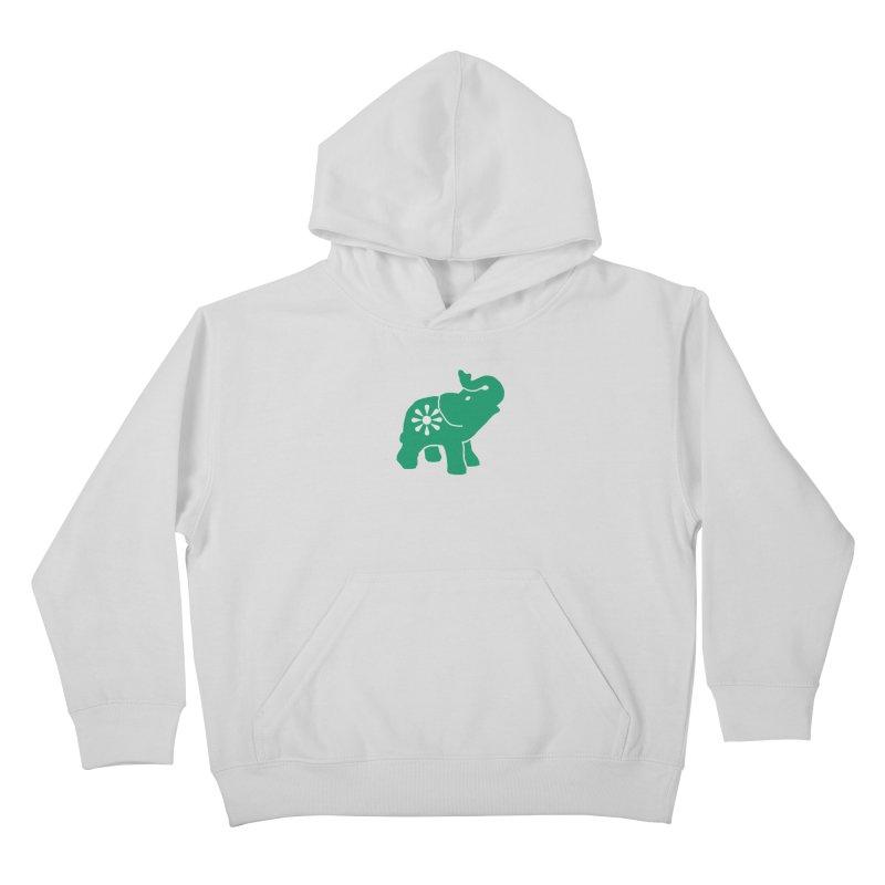 Green Elephant Kids Pullover Hoody by Everyone's Autonomous' Artist Shop