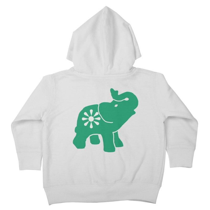 Green Elephant Kids Toddler Zip-Up Hoody by Everyone's Autonomous' Artist Shop