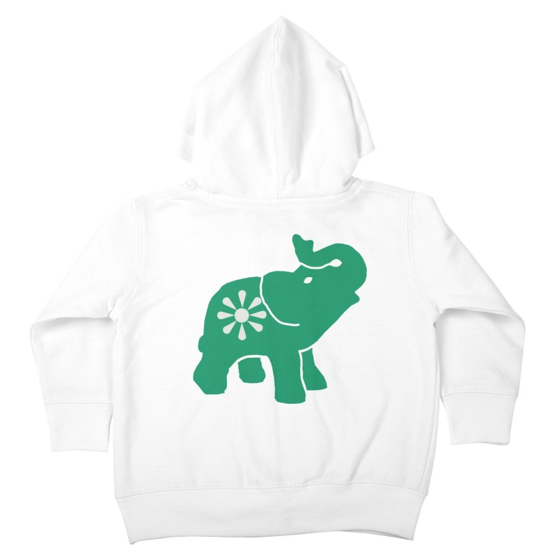 Green Elephant Kids Toddler Zip-Up Hoody by everyonesautonomous's Artist Shop