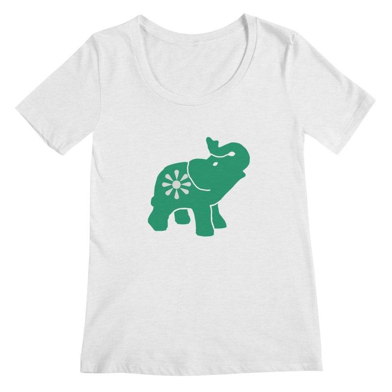 Green Elephant Women's Regular Scoop Neck by everyonesautonomous's Artist Shop