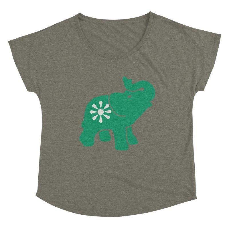 Green Elephant Women's Dolman Scoop Neck by everyonesautonomous's Artist Shop