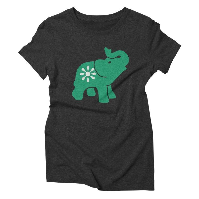 Green Elephant Women's Triblend T-Shirt by everyonesautonomous's Artist Shop