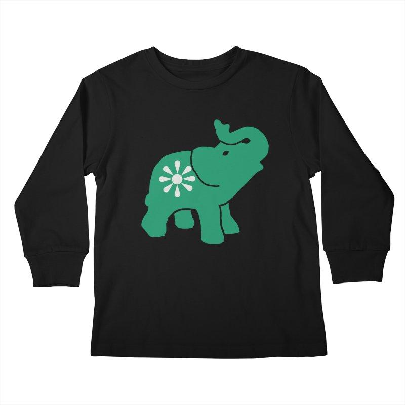 Green Elephant Kids Longsleeve T-Shirt by everyonesautonomous's Artist Shop
