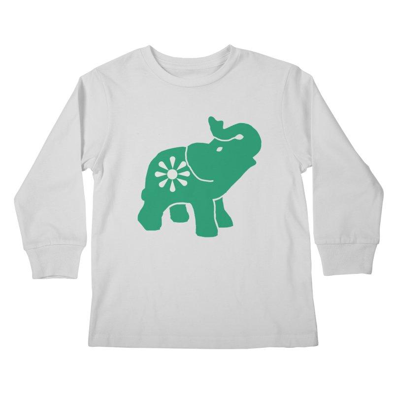 Green Elephant Kids Longsleeve T-Shirt by Everyone's Autonomous' Artist Shop