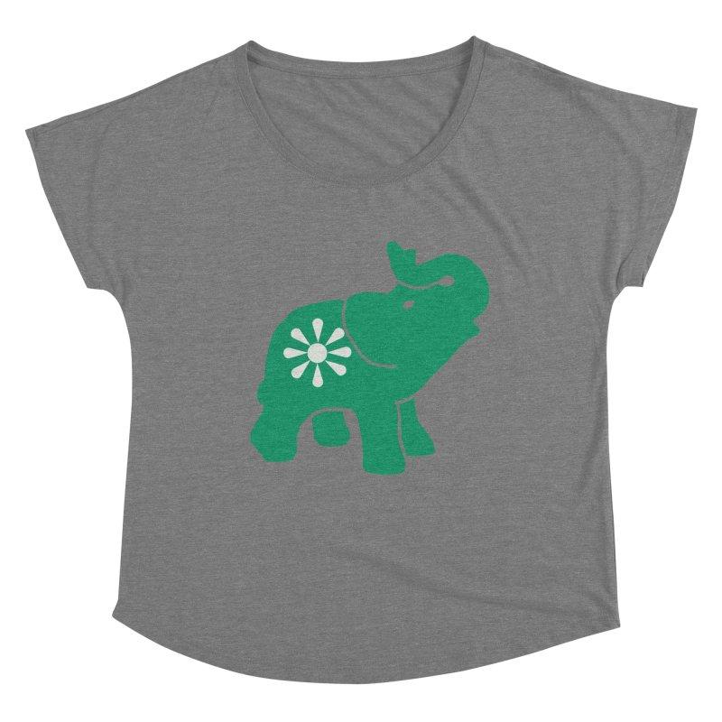 Green Elephant Women's Scoop Neck by everyonesautonomous's Artist Shop