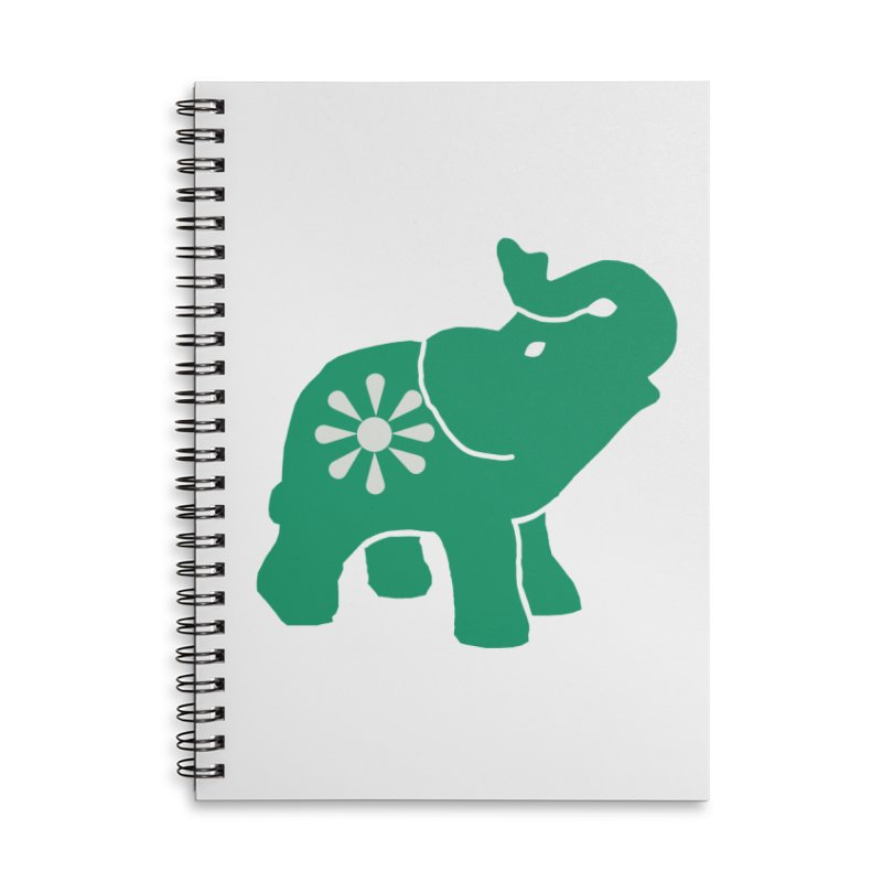 Green Elephant Accessories Notebook by everyonesautonomous's Artist Shop