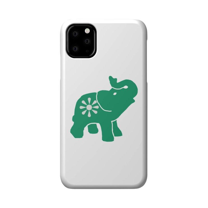 Green Elephant Accessories Phone Case by everyonesautonomous's Artist Shop