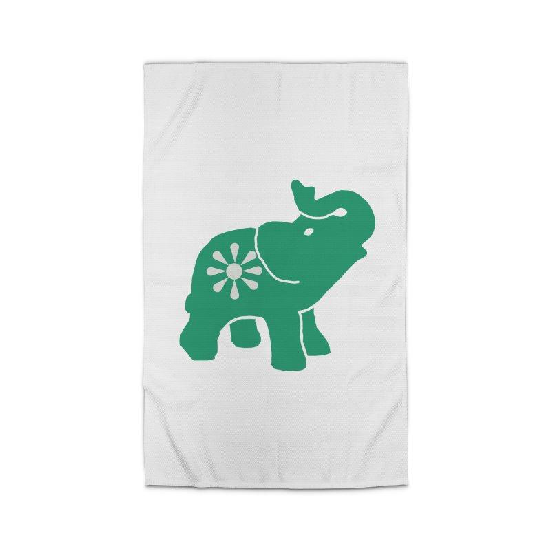 Green Elephant Home Rug by Everyone's Autonomous' Artist Shop