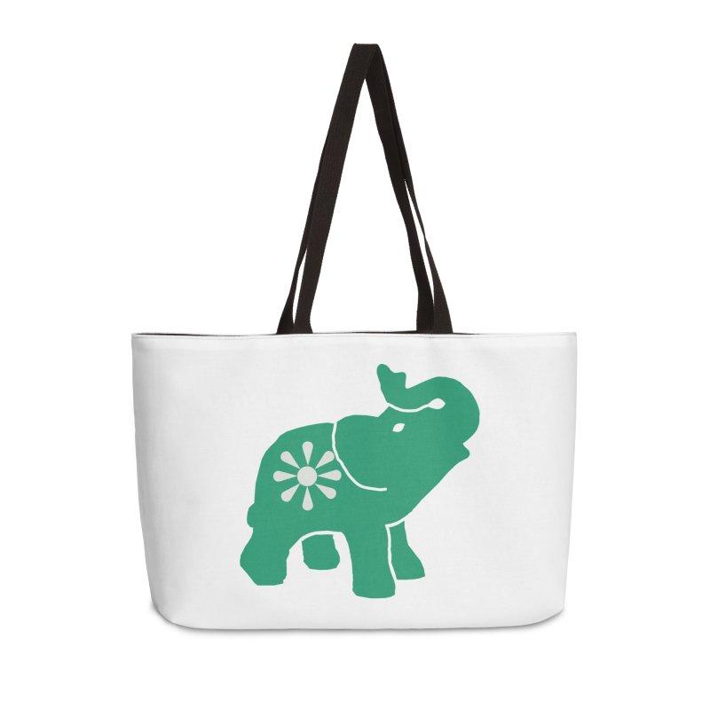 Green Elephant Accessories Bag by Everyone's Autonomous' Artist Shop