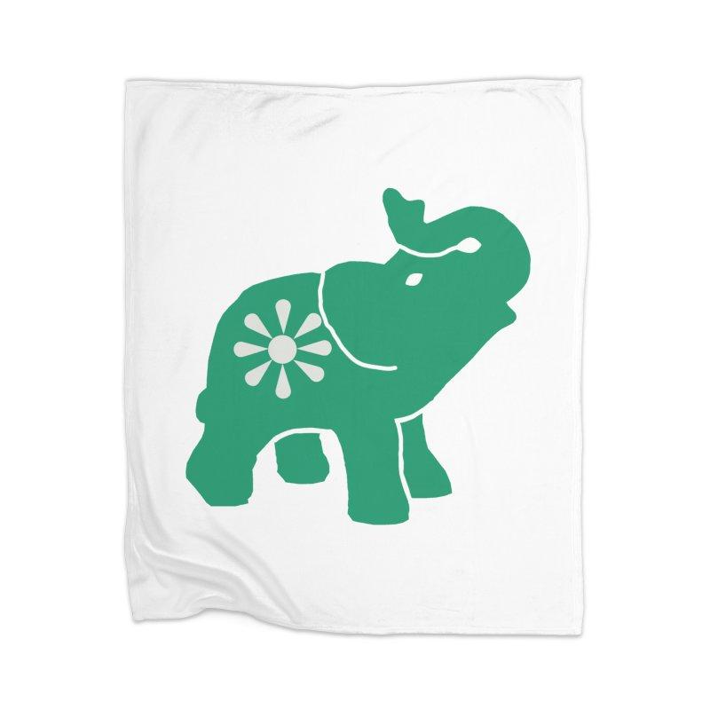 Green Elephant Home Blanket by Everyone's Autonomous' Artist Shop
