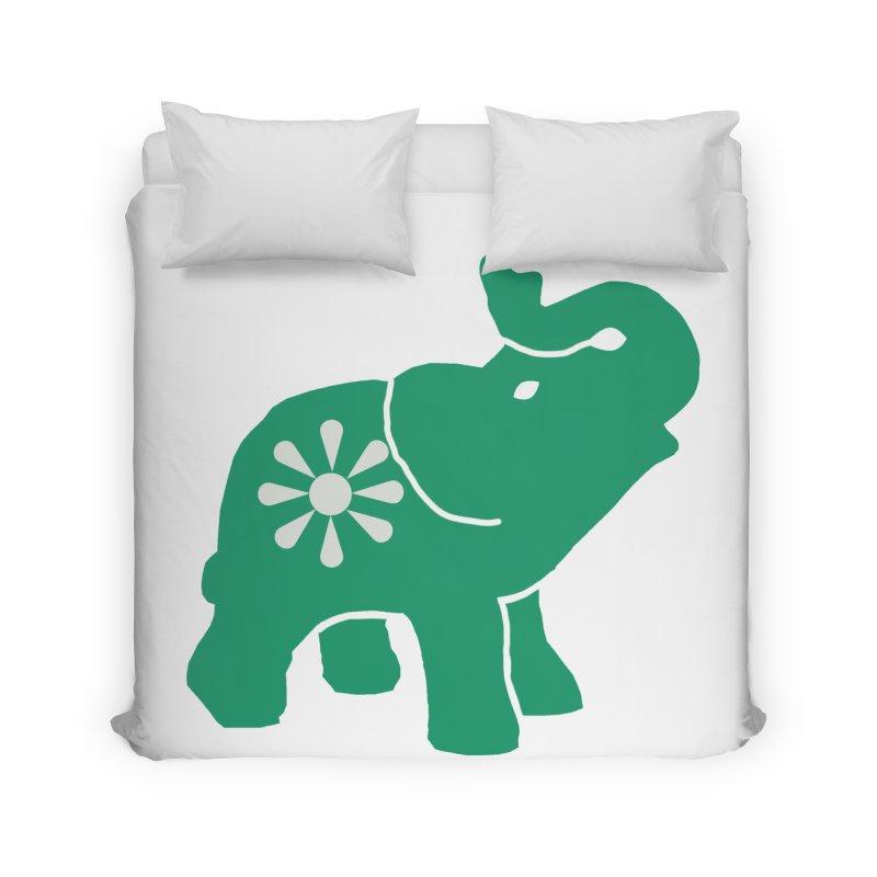 Green Elephant Home Duvet by everyonesautonomous's Artist Shop