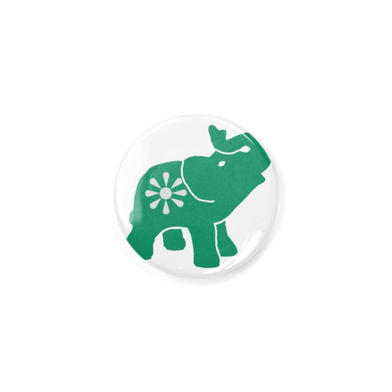 Green Elephant Accessories Button by Everyone's Autonomous' Artist Shop