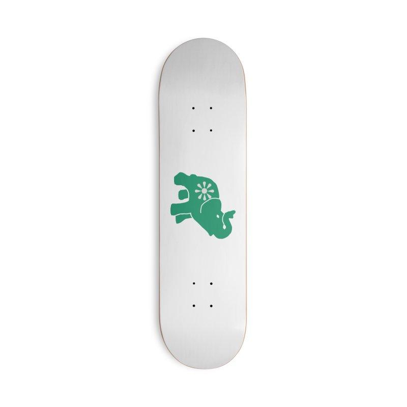 Green Elephant Accessories Skateboard by Everyone's Autonomous' Artist Shop